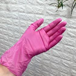 Перчатки винил-нитриловые, розовые (Китай), р-р M (50 пар/уп)