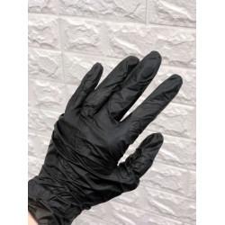 Перчатки винил-нитриловые, черные (Китай), р-р S (50 пар/уп)
