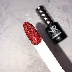 NR Flash 01 гель-лак светоотражающий, Красный (10 мл)
