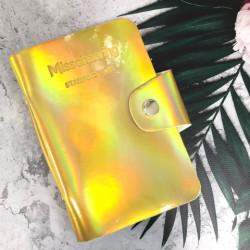 Альбом д/пластин д/стемпинга (на 20шт), Gold Golographic