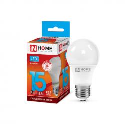 Лампочка светодиодная IN HOME LED-A60,15 Вт, 4000К, 1350Лм