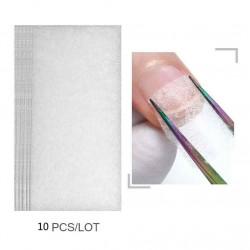 Шелк для ремонта ногтей (10 листов) 4*8см