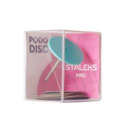 Диск педикюрный пластиковый PODODISC STALEKS PRO L в комплекте со сменным файлом 180 грит 5 ШТ (25 ММ)