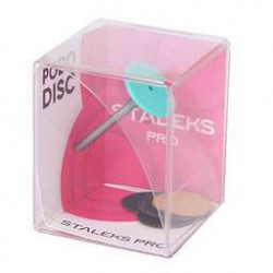 Диск педикюрный пластиковый PODODISC STALEKS PRO S в комплекте со сменным файлом 180 грит 5 ШТ (15 ММ)