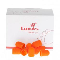 Колпачки шлифовальные LUKAS d-10mm 80 грит (крупная крошка, 10 шт