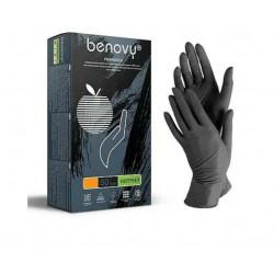 Перчатки нитриловые Benovy, р-р S (50 пар/уп) ЧЕРНЫЕ
