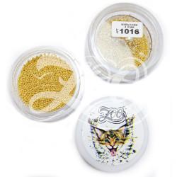 1016 Бульонки металлические золото 0.8 мм (10 г)