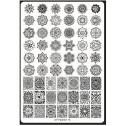 Пластина д/стемпинга пластиковая (р-р 14,5*21 см) (XY-13)