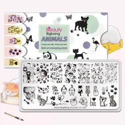 Пластина для стемпинга Beauty Bigbang Animal XL-002